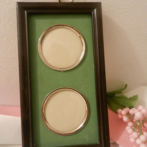 Vtg home decor accent 2 circle hanging pic frame